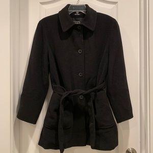 CINZIA ROCCA Black Cupro Coat size 4